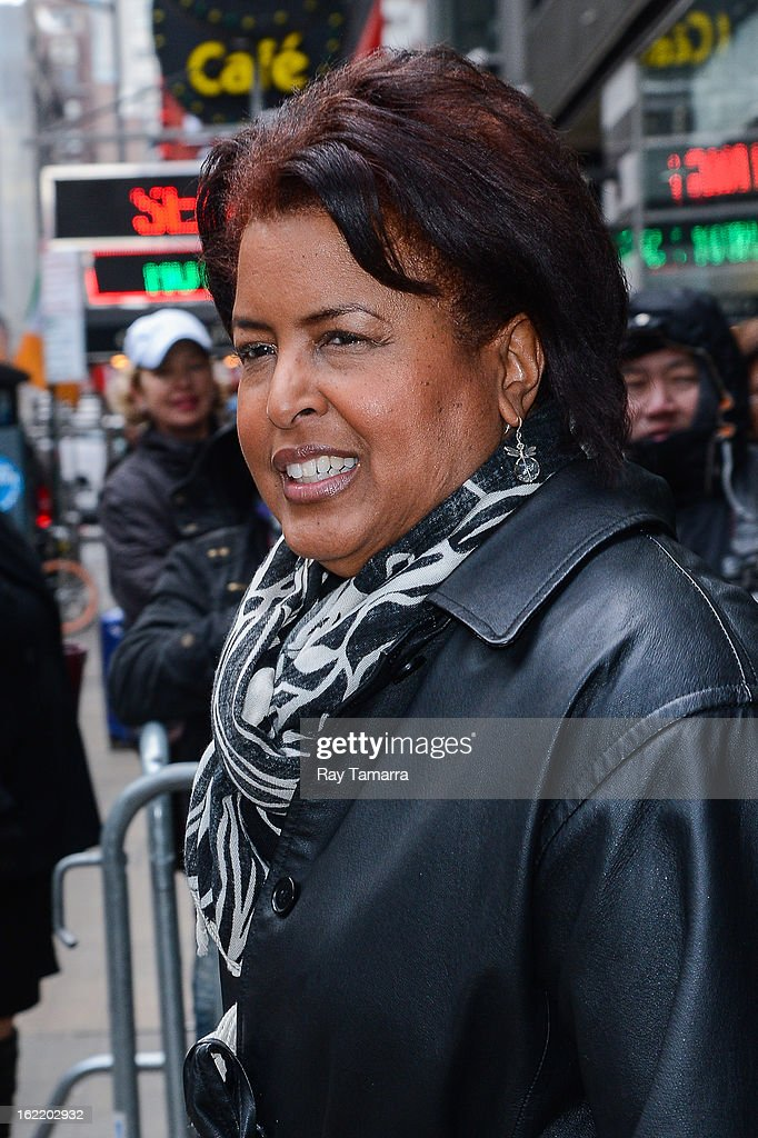 Dorothy Roberts McEwen leaves the 'Good Morning America' taping at ABC Times Square Studios on February 20, 2013 in New York City.