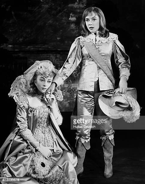 Dorothy Tutin as Viola and Geraldine McEwan as Olivia in the 1960 production of Shakespeare's Twelfth Night at the Aldwych Theatre