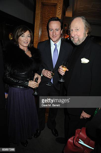 Dorrit Mousayeif David Cameron and Ed Victor attend The Spectator GQ Magazines 'Politics Meet Style' Party at Brown's Hotel in Albemarle Street on...