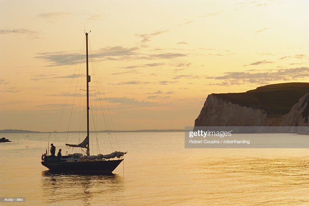 Dorset coast, near Lulworth, England, UK : Stock Photo