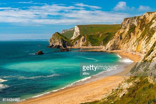 Dorset Coastline on a hot summer day : Stock Photo