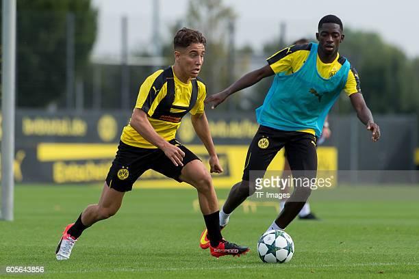 Dortmund Germany Trainer BV Borussia Dortmund BVB Emre Mor und Ousmane Dembele