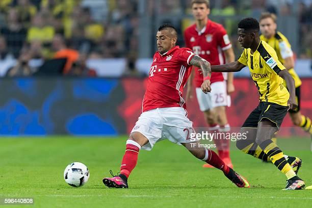 Dortmund Germany Supercup 2016 BV Borussia Dortmund FC Bayern Muenchen 02 Arturo Vidal gegen Ousmane Dembele