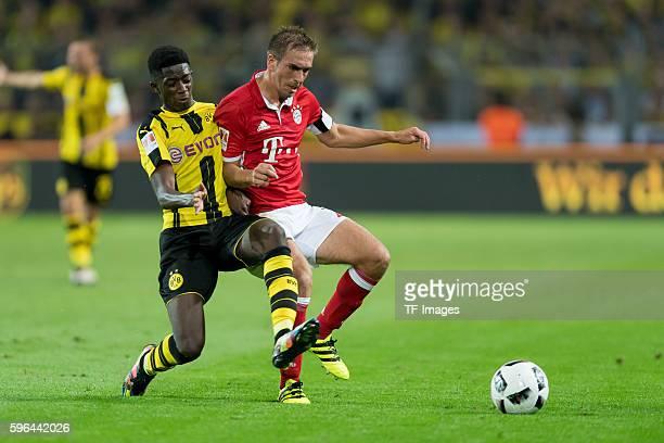 Dortmund Germany Supercup 2016 BV Borussia Dortmund FC Bayern Muenchen 02 Ousmane Dembele gegen Philipp Lahm