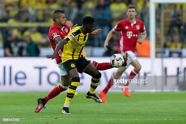 Dortmund Germany Supercup 2016 BV Borussia Dortmund FC Bayern Muenchen Arturo Vidal gegen Ousmane Dembele