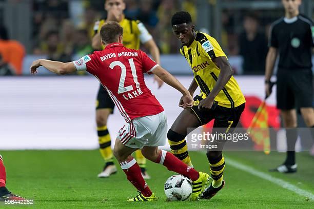 Dortmund Germany Supercup 2016 BV Borussia Dortmund FC Bayern Muenchen Philipp Lahm gegen Ousmane Dembele