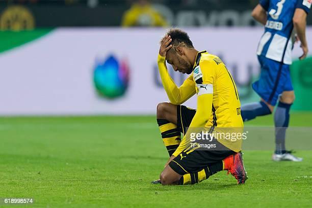 Dortmund Germany 1Bundesliga 7 Spieltag BV Borussia Dortmund Hertha BSC Berlin PierreEmerick Aubameyang nach seinen vergebenen Elfmeter