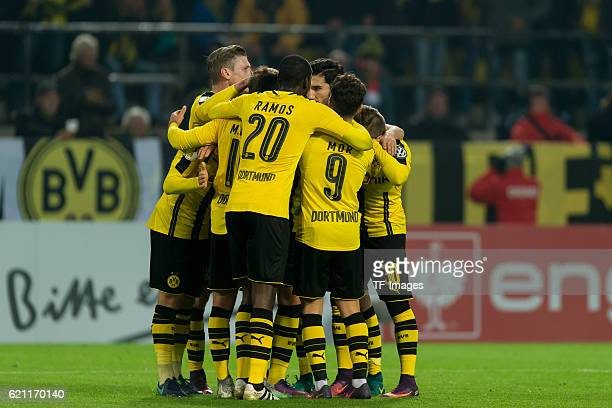 Dortmund Germany DFBPokal 2 Runde BV Borussia Dortmund 1FC Union Berlin jubel um Jacob Bruun Larsen nach seinem treffer zum 10