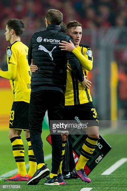 Dortmund Germany DFBPokal 2 Runde BV Borussia Dortmund 1FC Union Berlin Trainer Thomas Tuchel und Jacob Bruun Larsen