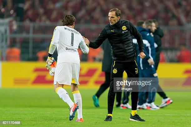 Dortmund Germany DFBPokal 2 Runde BV Borussia Dortmund 1FC Union Berlin Torwart Roman Weidenfeller und Trainer Thomas Tuchel vor dem elfmeterschiessen