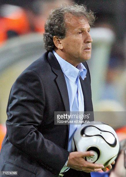 Brazilian coach of the Japanese team Zico attends the opening round Group F World Cup football match Japan vs Brazil 22 June 2006 in Dortmund Germany...