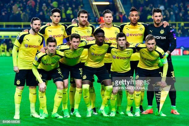 Dortmund players midfielder Gonzalo Castro Spanish defender Marc Bartra Greek defender Sokratis Polish defender Lukasz Piszczek Gabonese forward...