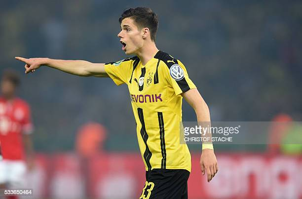 Dortmund's midfielder Julian Weigl reacts during during the German Cup final football match Bayern Munich vs Borussia Dortmund at the Olympic stadium...