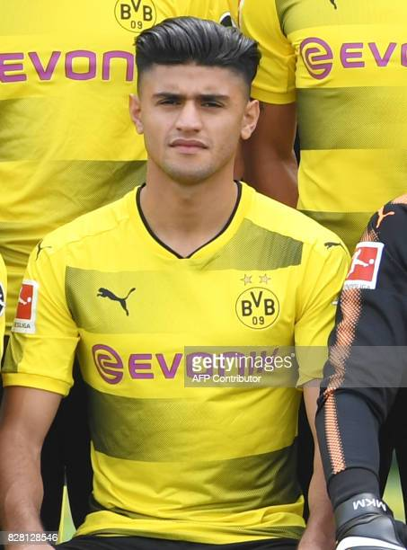 Dortmund's midfielder Mahmoud Dahoud poses for a team photo of German first division Bundesliga football club Borussia Dortmund on August 9 2017 in...