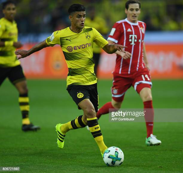 Dortmund´s midfielder Mahmoud Dahoud vies for the ball during the German Supercup football match between Borussia Dortmund vs Bayern Munich in...