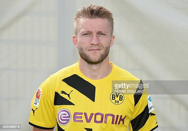 Dortmund's Polish midfielder Jakub Blaszczykowski poses for a photograph during the team presentation of German first division Bundesliga football...