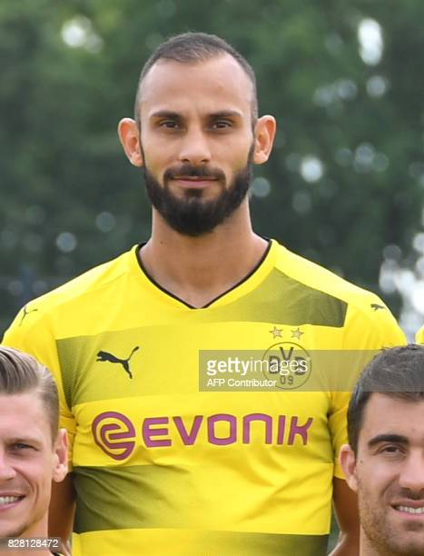 Dortmund's Turkish defender Omer Toprak poses for a team photo of German first division Bundesliga football club Borussia Dortmund on August 9 2017...