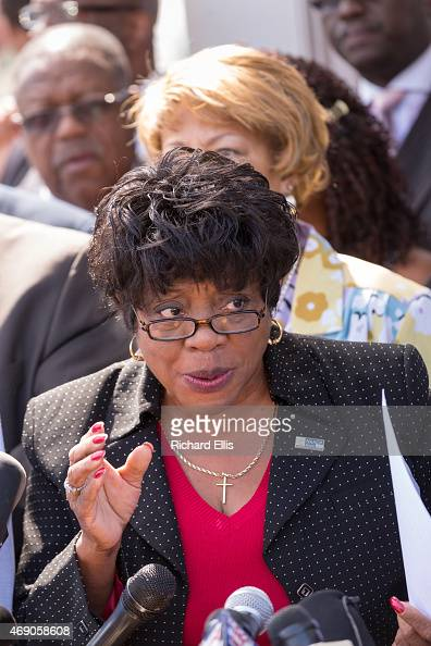 Dot Scott the President of the Charleston Chapter of the NAACP holds a press conference to discuss the police killing of an unarmed black motorist...