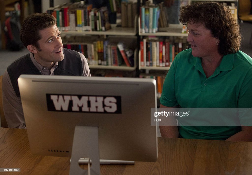 Dot-Marie Jones as 'Coach Beiste' (R) and Matthew Morrison as 'Will' (L) in the 'Shooting Star' episode of GLEE airing Thursday, April 11, 2013 (9:00-10:00 PM ET/PT) on FOX.