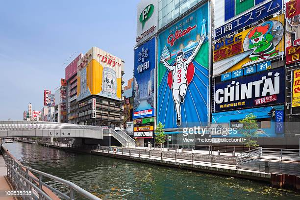 Dotonbori, Osaka City, Osaka Prefecture, Honshu, Japan