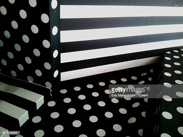 Dots And Stripes On Wall