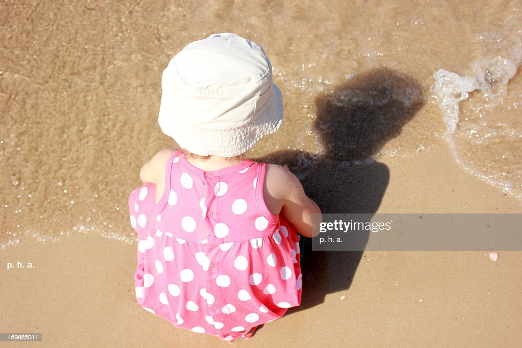 dots in the shore : Stock Photo