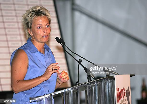 Dottie Pepper during LPGA 2004 Wendy's Championship for Children Gordon Teter Memorial ProAm Draw Party in Dublin Ohio United States Photo by Gregory...