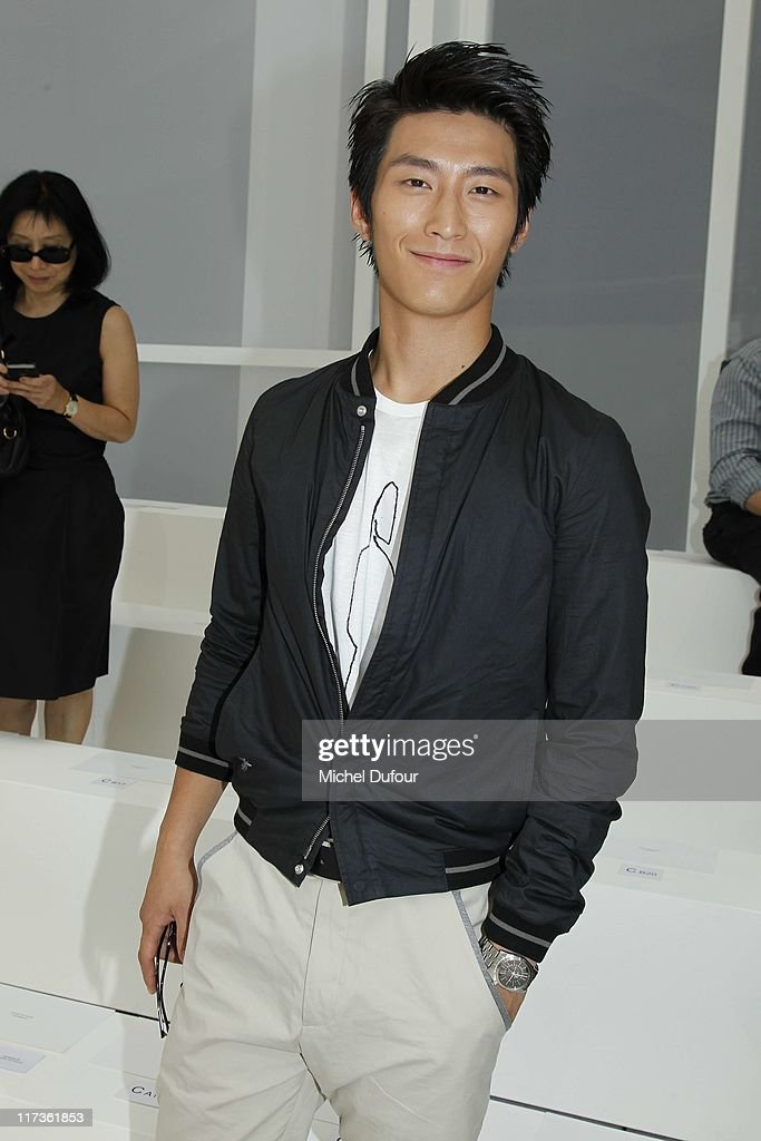 Dou Xiao attends the Dior Homme Menswear Spring/Summer 2012 show as part of Paris Fashion Week at on June 25, 2011 in Paris, France.