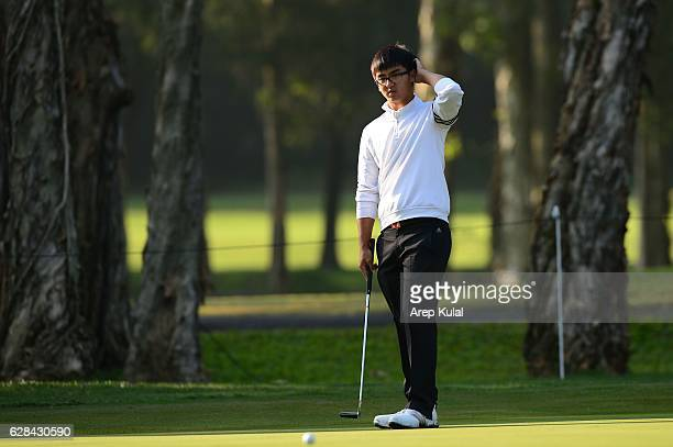 Dou Zecheng of China pictured during round one of the UBS Hong Kong Open 2016 at The Hong Kong Golf Club on December 8 2016 in Hong Kong Hong Kong