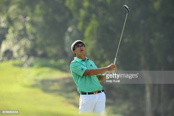 Dou Zecheng of China pictured during round two of the UBS Hong Kong Open 2016 at The Hong Kong Golf Club on December 9 2016 in Hong Kong Hong Kong