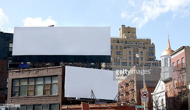 Double Advertising Billboard  Space in  Manhattan New York