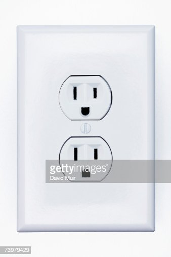 Double Electrical Outlet Closeup Stock Photo | Getty Images