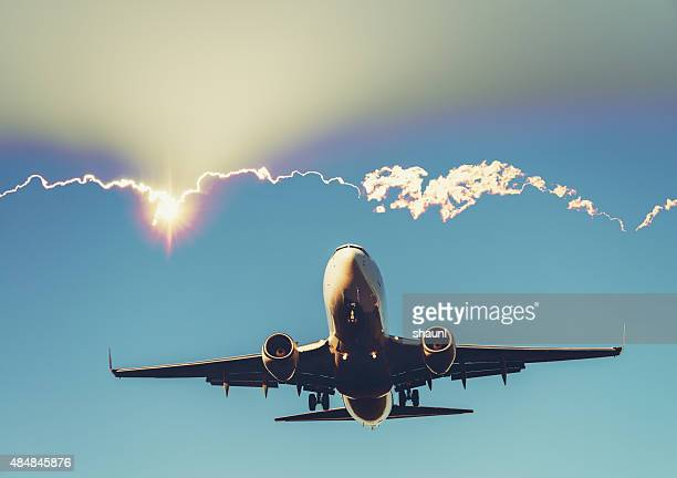 Double Exposure Passenger Jet