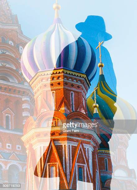 Double exposure St Basil' cathedral.