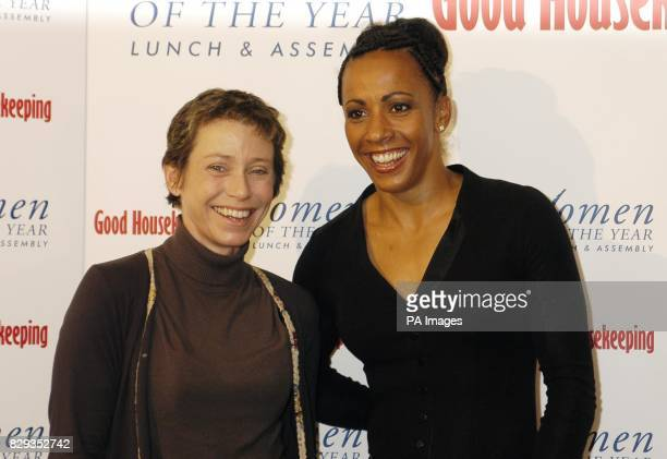 Double Olympic champion Kelly Holmes and fundraiser Jane Tomlinson MBE during the Woman of the Year Awards at the Savoy Hotel in central London The...