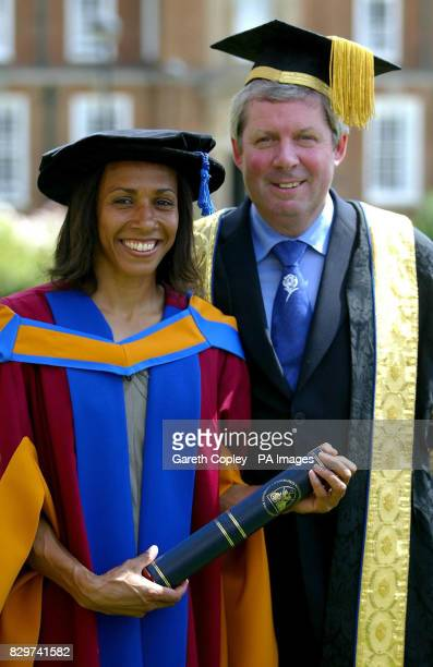Double Olympic Gold medallist Dame Kelly Holmes receives an Honorary Doctorate of Sports Science from the new Chancellor of Leeds Metropolitan...