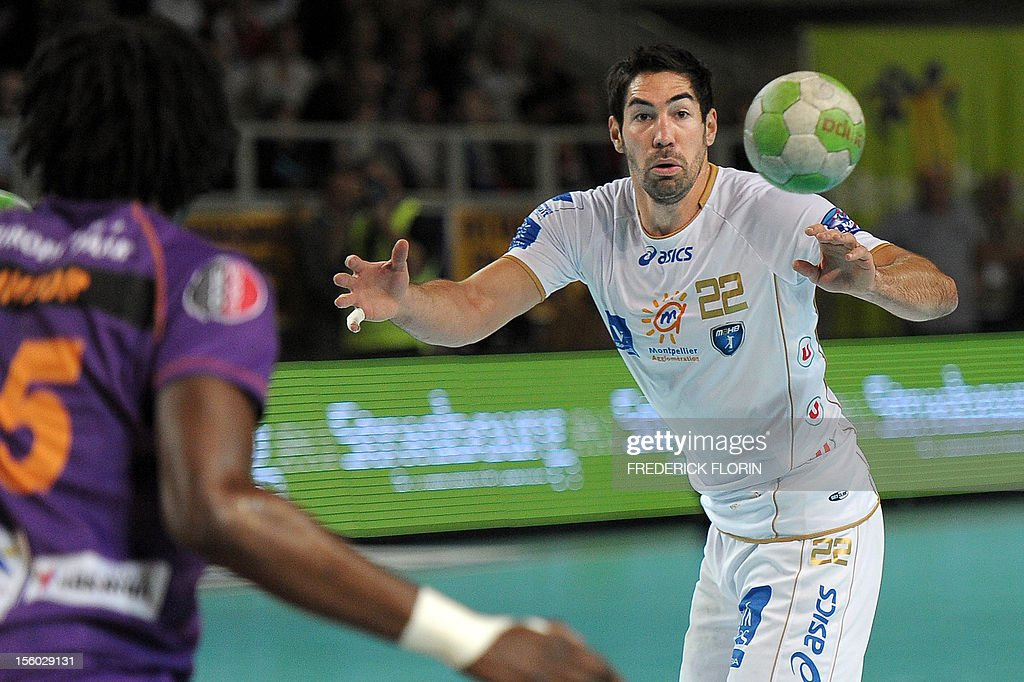 Double Olympic handball champion Nikola Karabatic plays during his first match with the Montpellier's team against Selestat for the first time after being implicated in the a high-profile match-fixing scandal, on November 11, 2012 in Strasbourg,eastern France. Karabatic, along with 10 other people including his brother Luka, is being investigated by police on suspicion of fraud relating to unusual betting patterns on a match involving his club Montpellier and Cesson-Sevigne on May 2012.