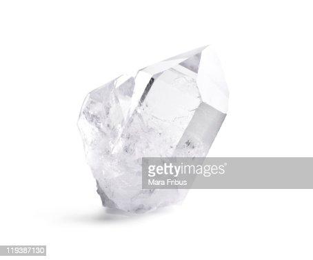 Double quartz crystal : Stock Photo