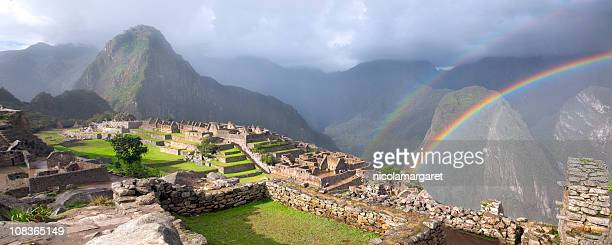 Double Rainbow at Machu Picchu XXXL