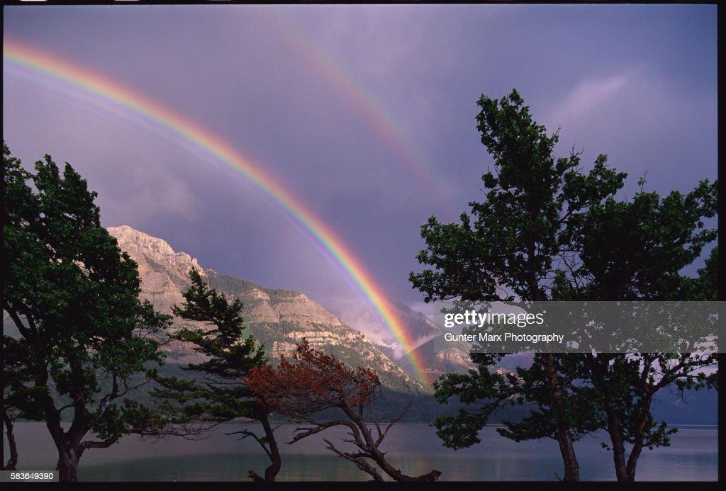 Double Rainbow over Campground