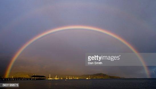 Double Rainbow Over Hanalei Pier