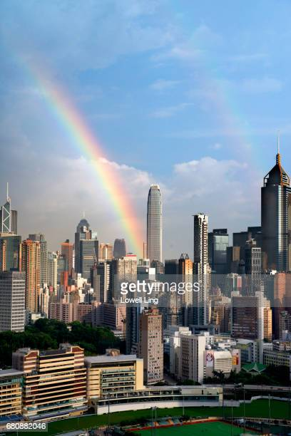 Double Rainbow over Happy Valley, Hong Kong