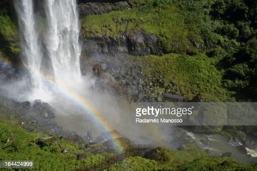 Double rainbow : Foto de stock