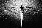 Rowing racing boat