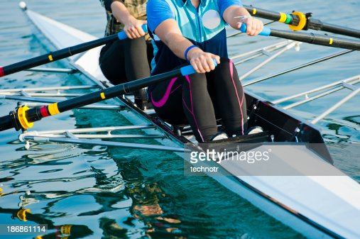 Double scull rowing team