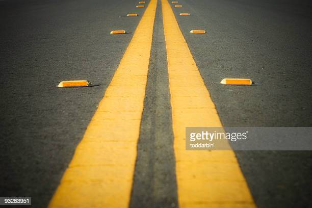 Double Yellow Line on a Road