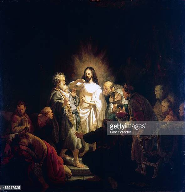 'Doubting Thomas' 1634 Picture illustrating episode related in the in St John 's Gospel where the Apostle Thomas puts his hand in the wound in the...