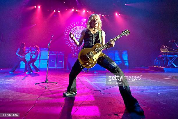 LONDON UNITED KINGDOM JUNE 20 Doug Aldrich of Whitesnake performs on stage at Hammersmith Apollo on June 20 2011 in London United Kingdom
