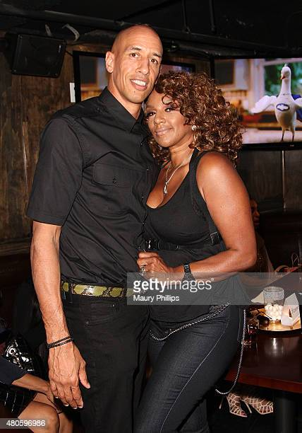 Doug and Jackie Christie attend Basketball Wives LA premiere party at The Man Cave Sports Bar Lounge on July 12 2015 in Los Angeles California