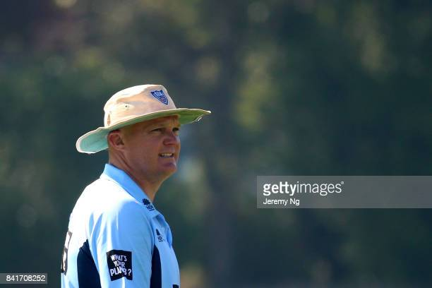 Doug Bollinger of Cricket NSW looks on during the Cricket NSW Intra Squad Match at Hurstville Oval on September 2 2017 in Sydney Australia